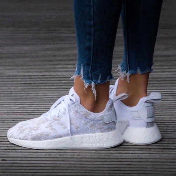 Adidas NMD R2 White Grey